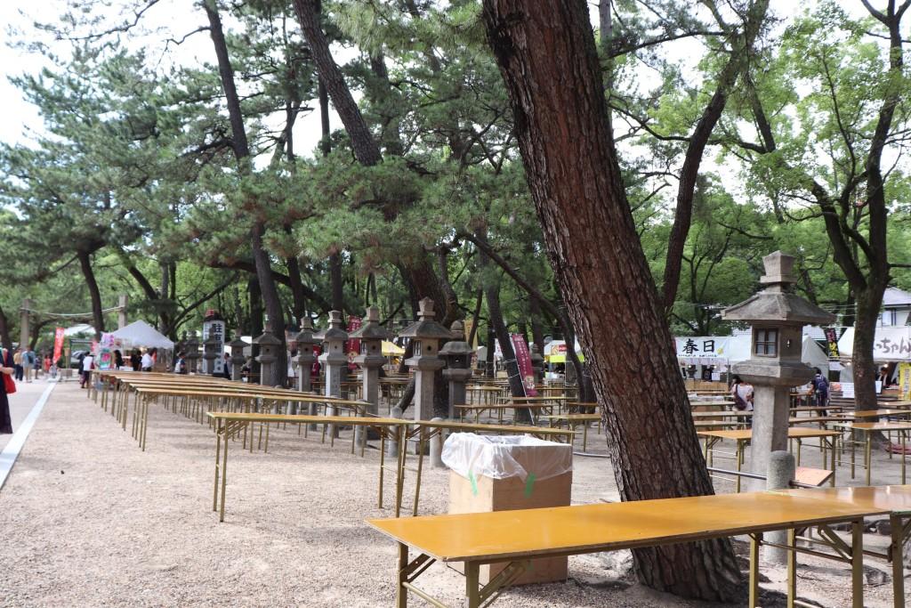 西宮神社 あらえびす ビールフェスタ テーブル
