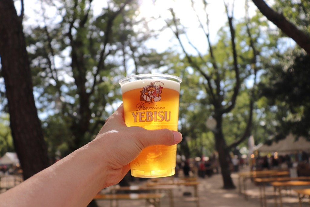 西宮神社 エビスビール 乾杯