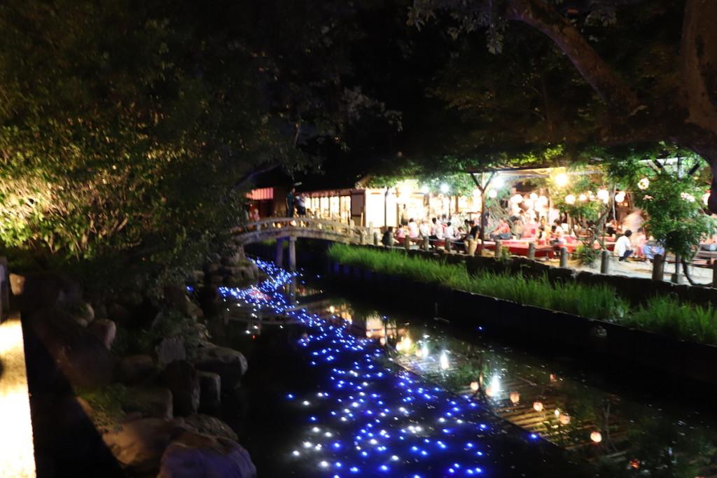 西宮神社 天の川 ライトアップ