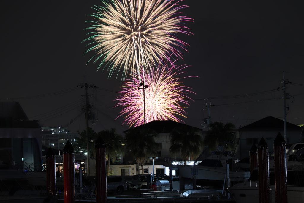 芦屋サマーカーニバル 西宮埠頭広場からの花火