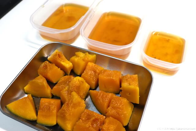 かぼちゃの煮物 冷凍保存